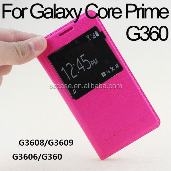 smart leather case cover for Samsung Galaxy Core Prime G360