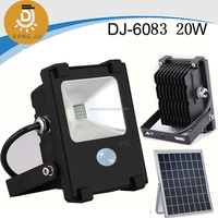 New Hot Item 3w,5w,7w,10w,20w,30w integrated and rechargeable SMD solar led light with lithium battery motion sensor DJ-6083 20w