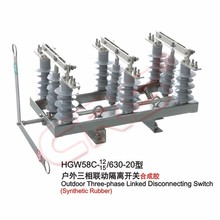 High Technology Durable Outdoor High Voltage 33Kv Isolators Disconnect Switch