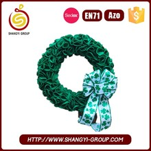 Party supply polyester felt flower garland decoration for irish st. patrick's day