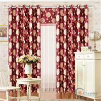 China suplier luxury flower printed dining room patio door drapes