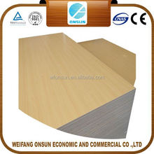 wholesale top quality cheap mdf 4x8 with melamine face for construction