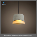 Popular design european style dining room concrete suspension lamp E27 40W