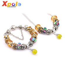 Fashion Different Styles multiColour Glass Beads Sweet Fruit charms Jewelry Set For Valentine's Day