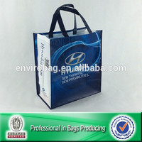 Wipe-clean rpet eco friendly promotional bag with custom logo and trademark