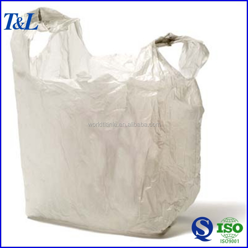 Wholesale factory biodegradable shopping supermarket grocery t shirt plastic bag, best sales!