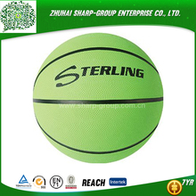 2016 hot sale Heat transfer printing colorful standard size weight rubber basketball