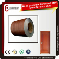 Wood grain PVC Coated Steel sheet&coil used to manufacture door panel