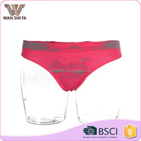 Custom seamless interesting design underwear soft shiny girls panty