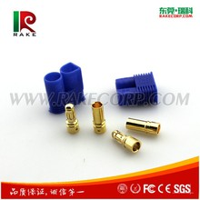 3.5 MM Gold Plated RC EC3 Connector Banana Plug Connector Series With Blue Housing