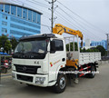 hot sale right hand drive 4x2 iveco light diesel stiff boom crane truck 3 ton