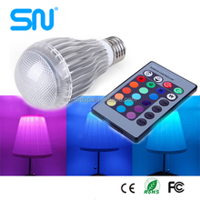 New Remote Control Type 3W E27 RGB / White LED Rotating Stage Light Bulb For Celebration Party