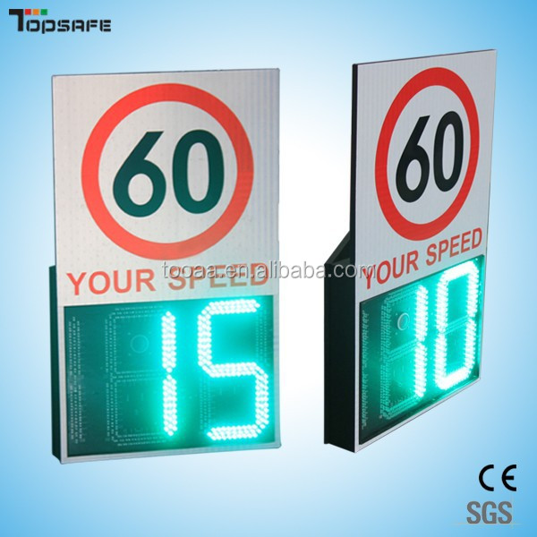 Radar your speed detector control warning solar LED signs