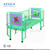 AG-CB002 Steel alloy handrail pediatric department back section adjust by manual crank children medical bed manufacturers