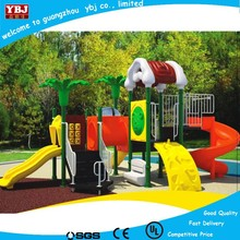 Hot sale discount durable big nature style plastic kids outdoor playground slide with three funny slides