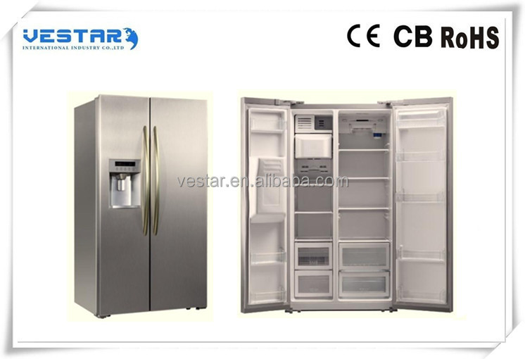New designing side by side refrigerator with mini bar fridge freezer for sale