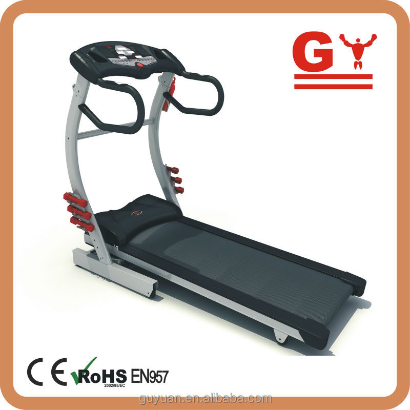 2016 GV-4302M motorized treadmill in high quality with dumbells