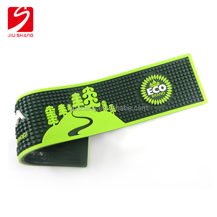 eco friendly green square pvc bar service mat with logo