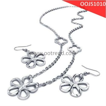 Wave surface effect design stainless steel 316L jewelry set for women jewelry set can be made out of sterling silver