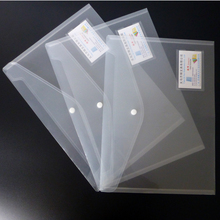 Clear Document Folder PP Plastic FC Size Transparent File Envelope