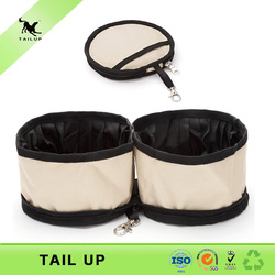 TAILUP Collapsible waterproof food and water travel cat bowl
