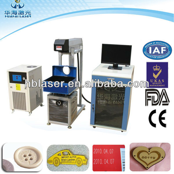2013 CE&FDA Hot 60W Co2 laser name tag marking machine machine manufacturer with high speed for platic, rubber, leather material