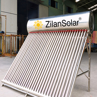 2016 new! 200l 300l Nonpressurized stainless stell swimming pool and home solar water heater