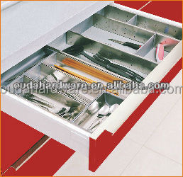 Modern stainless steel kitchen cutlery tray