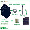 Solarparts 75W DIY your flexible solar panel kits with 125*125mm sunpower solar cell use flux pen+tab wire+bus wire experiments
