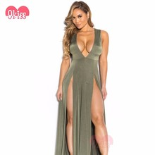 Latest Green Dress Girls Sexy Night Dress Photos