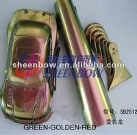 gold-green-red triple color changing pigment for coating industry