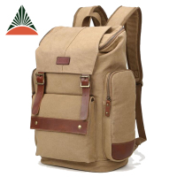 Large Capacity Vintage Canvas Travel 14 Inches Casual Computer Rucksack Backpack