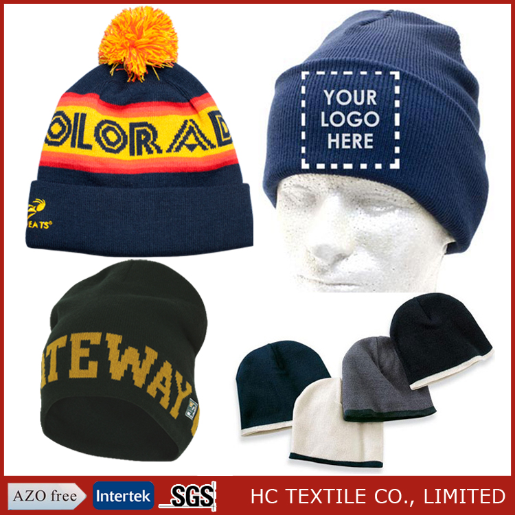 100% acrylic wholesale custom embroidered beanie, cashmere beanie