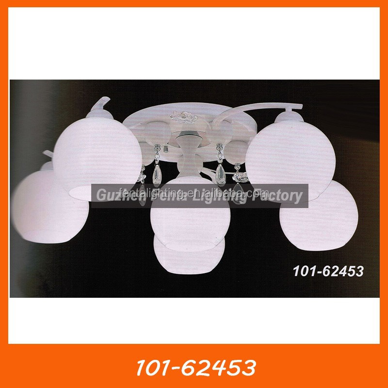 White glass ceiling lamp for kitchen 101-62453, ceiling light malaysia