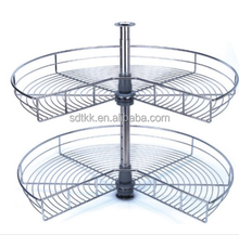 Wire Lazy Susan,Magic Corner,Kitchen Revolving Basket