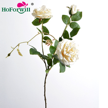 Factory price high simulation hot sale cheap fake flowers artificial rose flowers for wedding arrangement