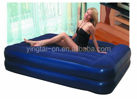custom inflatable air bed with pillow air mattress prices