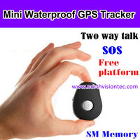 mini children gps tracker keychain gps with waterproof and SOS for kids/old people