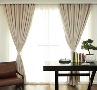 Solid Oxford Style Acrylic Foam Coated Blackout Curtain and Roman Blind Fabric