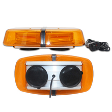 Amber Law Truck Car Enforcement Emergency Hazard Beacon Warning Police LED Mini Bar Snow Plow Safety Flash Strobe Light bar