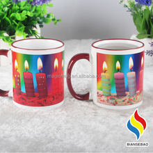 high quality fda Red Glazed bulk plain enamel mug
