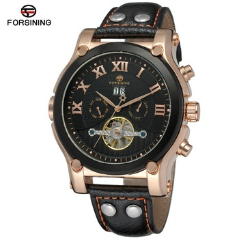 Forsining 2017 New Arrival Genuine Leather Material sports mens automatic watch