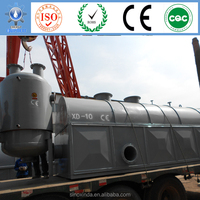 Continuous reaction processing equipment separating crude oil to diesel gasoline and kerosene