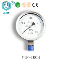 Diaphragm All Stainless Steel Oil Filled Gas Pressure Gauge Bottom Connect