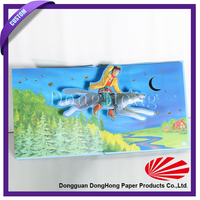 Custom hot sale children 3d story book with hard book cover