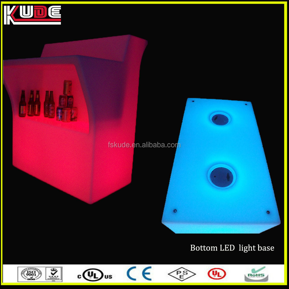 innovative products LED light bar counter design for restaurant