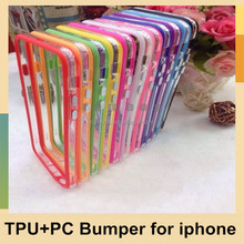 Soft Rubber TPU Bumper Case Cover for iphone 5 5s 4 4s 5C for iphone 6 / 6 Plus