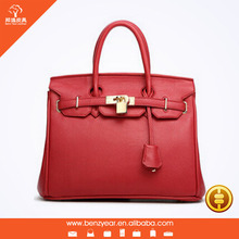 2015 Fashion Newly Pu leather women handbag Italy famous designer bag with alloy lock