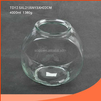 Flat type and Elegant glass fish bowl wholesale