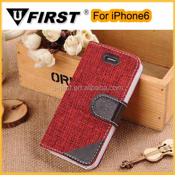 2014 cheap magnetic flip mobile phone leather case for iphone6.high quality